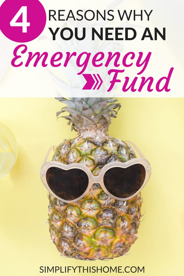 4 reasons why you need an emergency fund! | how to build an emergency fund | saving money #emergencyfund #savemoney