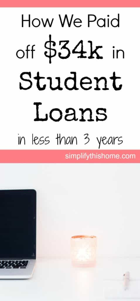 How we paid off $34k in student loans in less than 3 years!