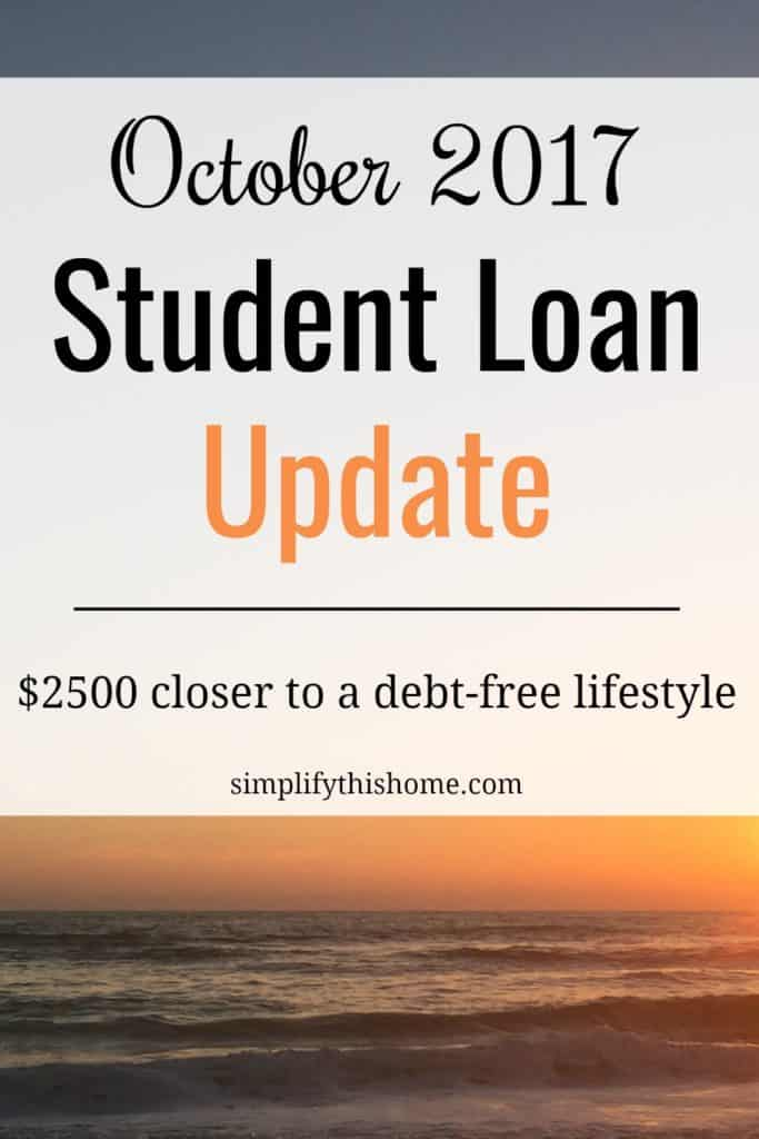 October 2017 Student Loan Update - Simplify this Home