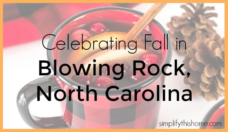 Celebrating Fall in Blowing Rock, North Carolina