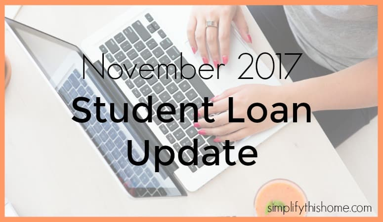 November 2017 student loan payoff update. Simplify this Home