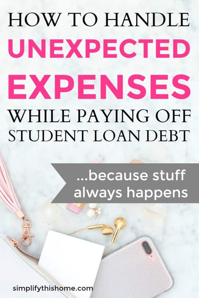 How to handle unexpected expenses when paying off debt! | emergency fund