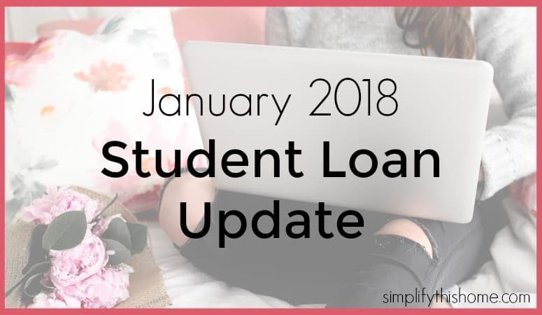 January 2018 student loan payoff update. Simplify this Home