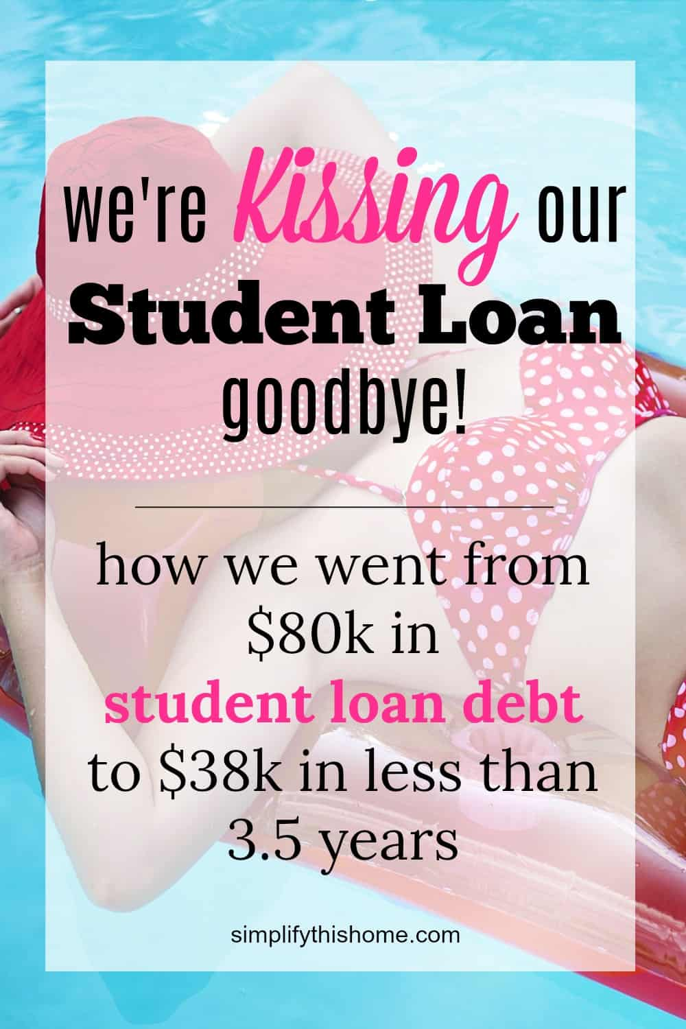 Paying off student loans- January 2018 student loan update