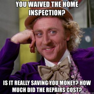 willy wonka home inspection