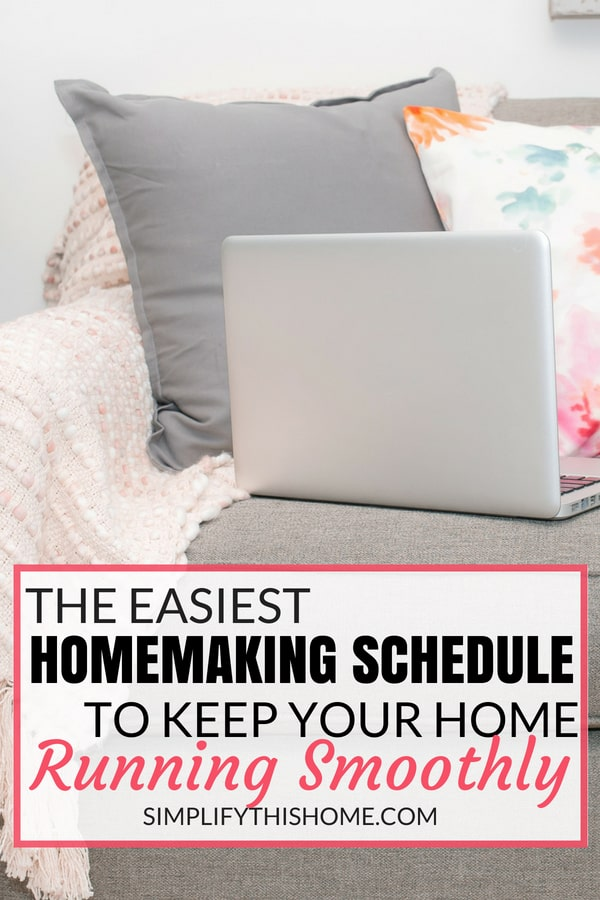 Easy homemaking schedule for when you just don't want to clean! | how to keep your house clean | cleaning schedule