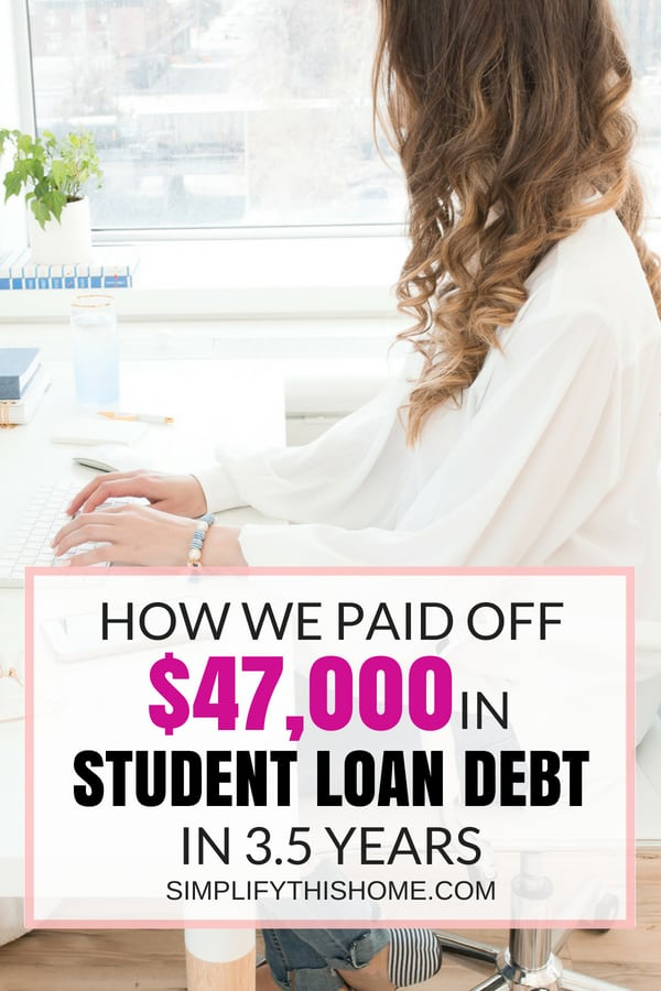 How we paid off $47,000 in student loan debt quickly! | how to pay off student loans