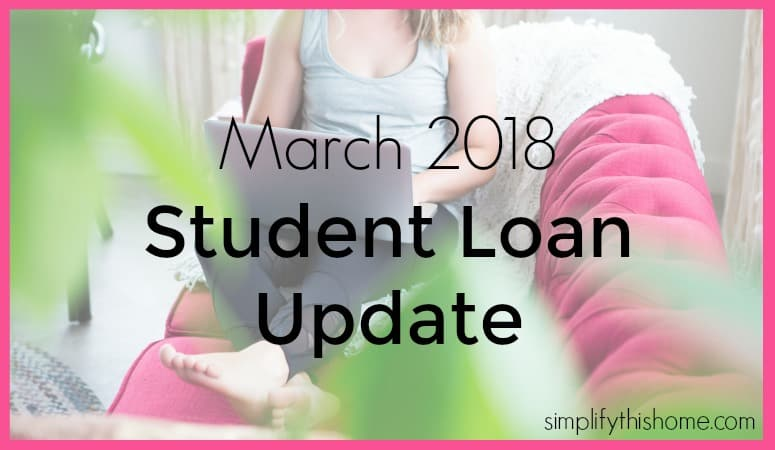 March 2018 student loan update. Simplify this Home