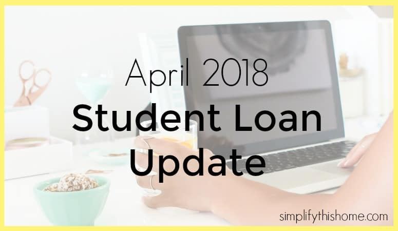 Student loan payoff update for April 2018. Simplify this Home