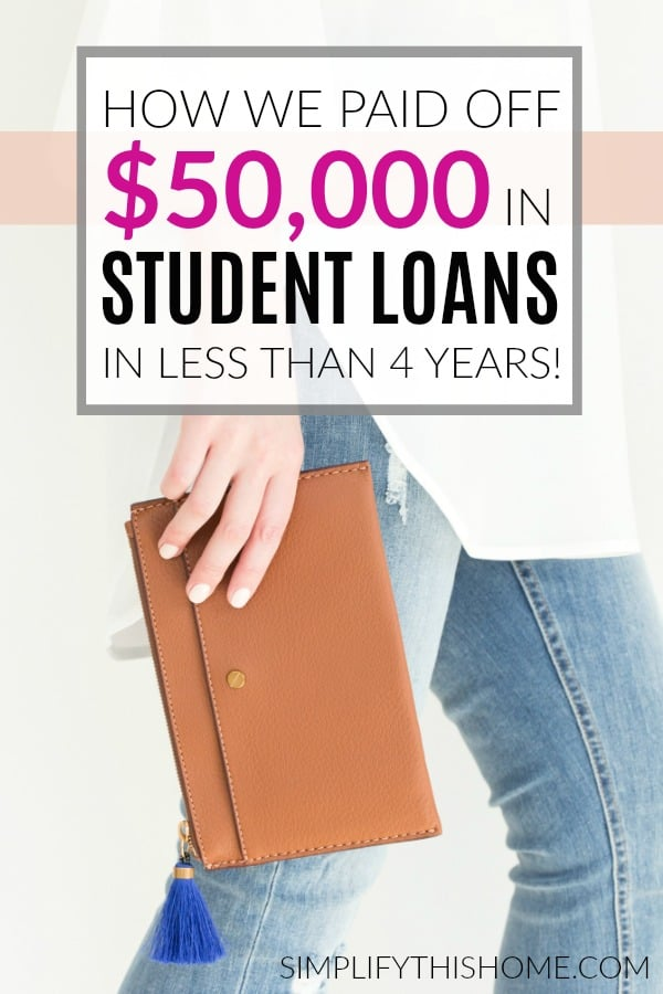 How we paid off $50,000 in student loans in less than 4 years!   paying off debt