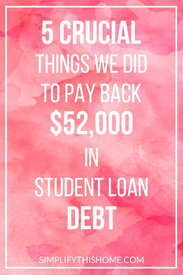 5 crucial things we did to pay back $52,000 in student loan debt | student loans | how to pay off debt quickly