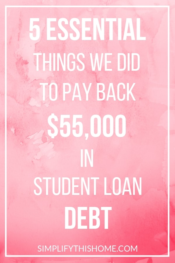 5 essential things we did to pay back $55,000 in student loan debt! | student loans | how to pay off debt quickly