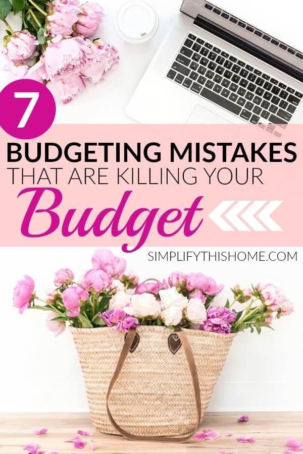Are you making these budgeting mistakes? | budgeting for beginners