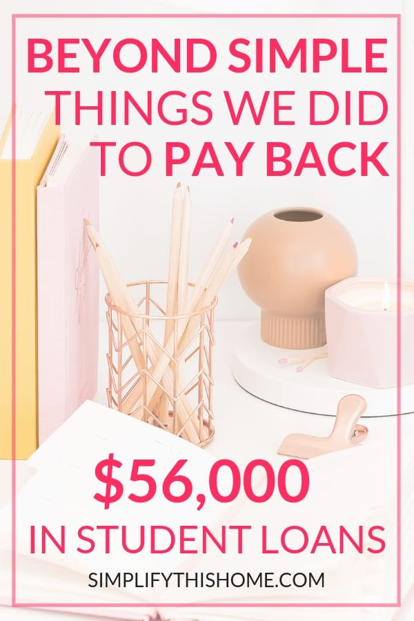 Beyond simple things we did to pay back $56,000 in student loans! It hasn't been easy, but we're tackling this student loan debt with gazelle intensity. And you can do the same with these tips! | how to pay off debt quickly