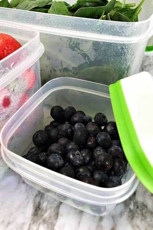 Blueberries in small Rubbermaid FreshWorks container