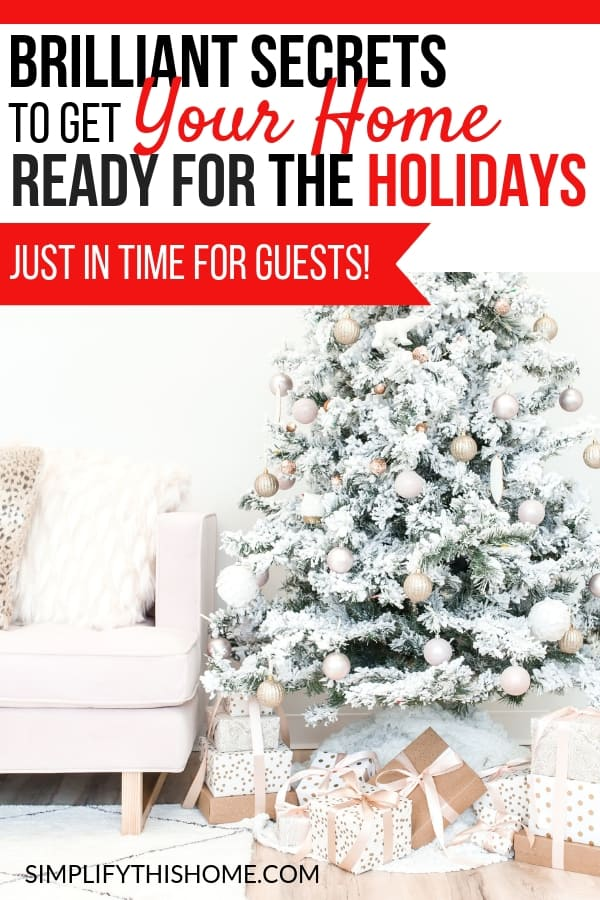 This quick holiday cleaning routine will help you get your home ready for the holidays just in time for guests to arrive! Don't forget to grab the printable checklist so you never miss a step!