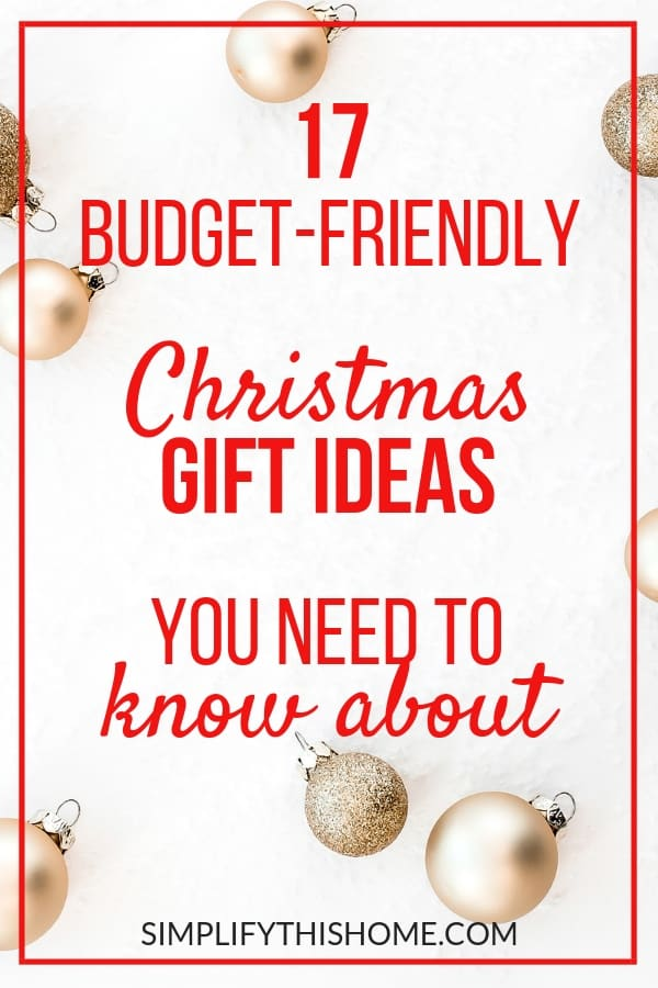These awesome budget-friendly Christmas gift ideas look like you spent a lot of money but are actually super affordable! | Christmas gift guide | Christmas gifts on a budget