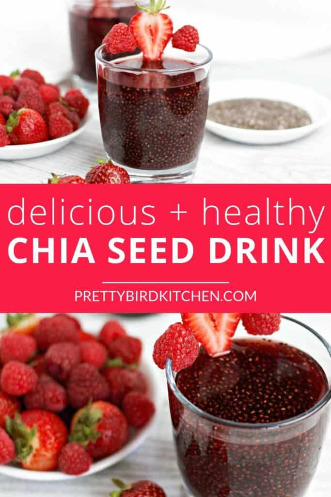 Delicious and healthy chia seed drink