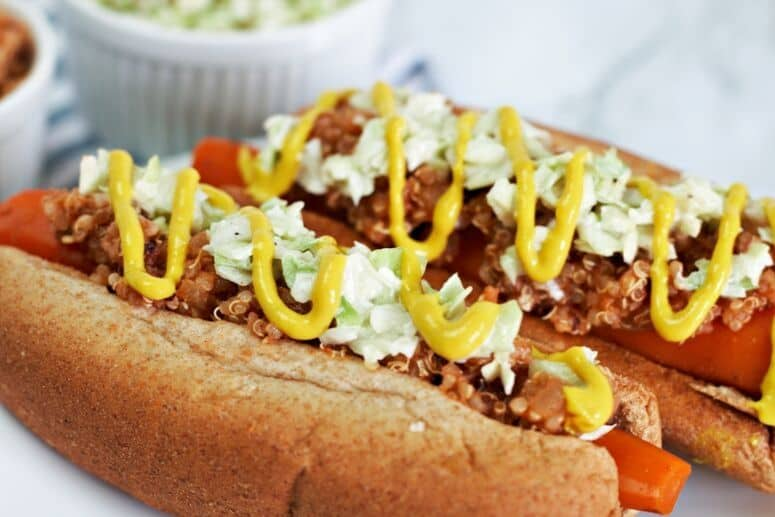 Easy carrot hot dog