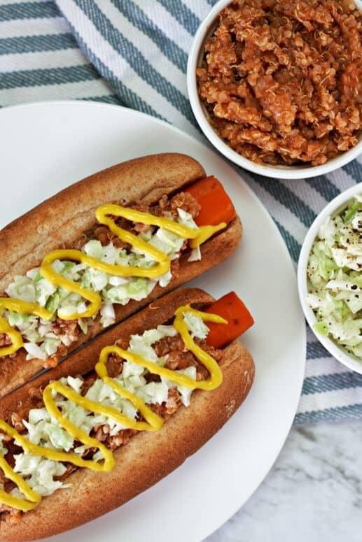 Easy carrot hot dogs
