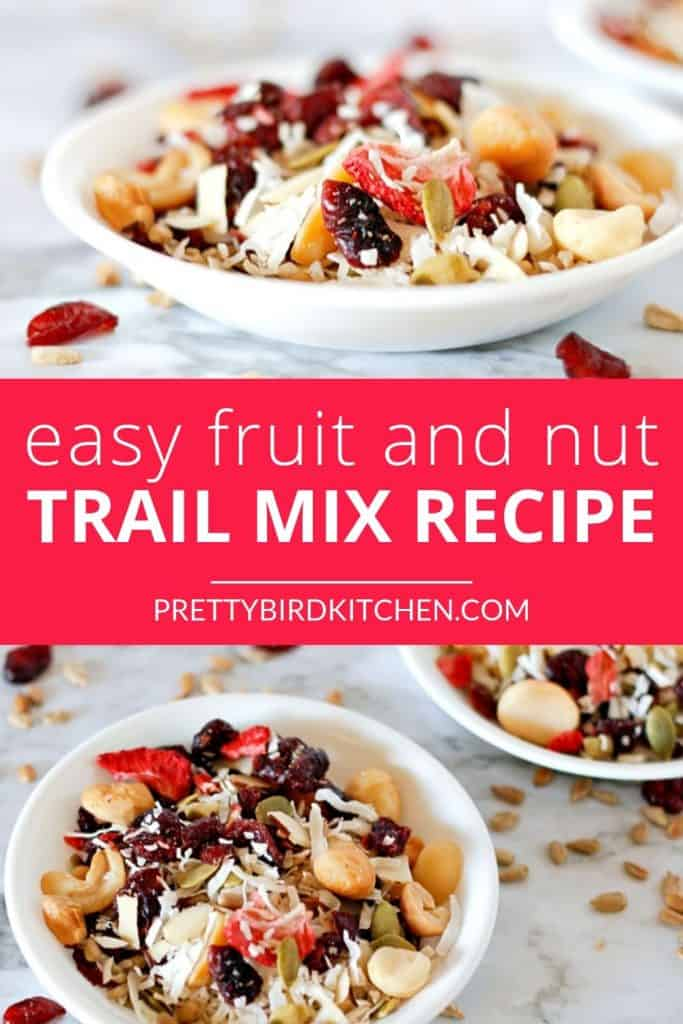 Easy fruit and nut trail mix recipe