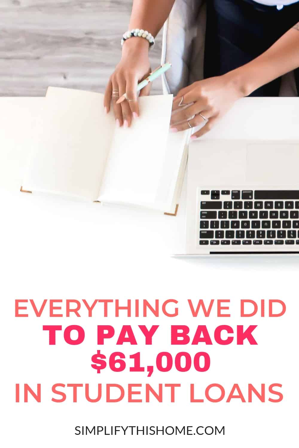 Here's everything we did to pay back $61,000 in student loans on one income in just a little over four years! | student loan debt | paying off debt