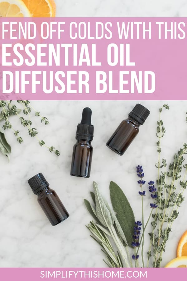 Fend off sickness with these essential oils for colds. This essential oil diffuser blend is perfect for fighting cold and flu germs!