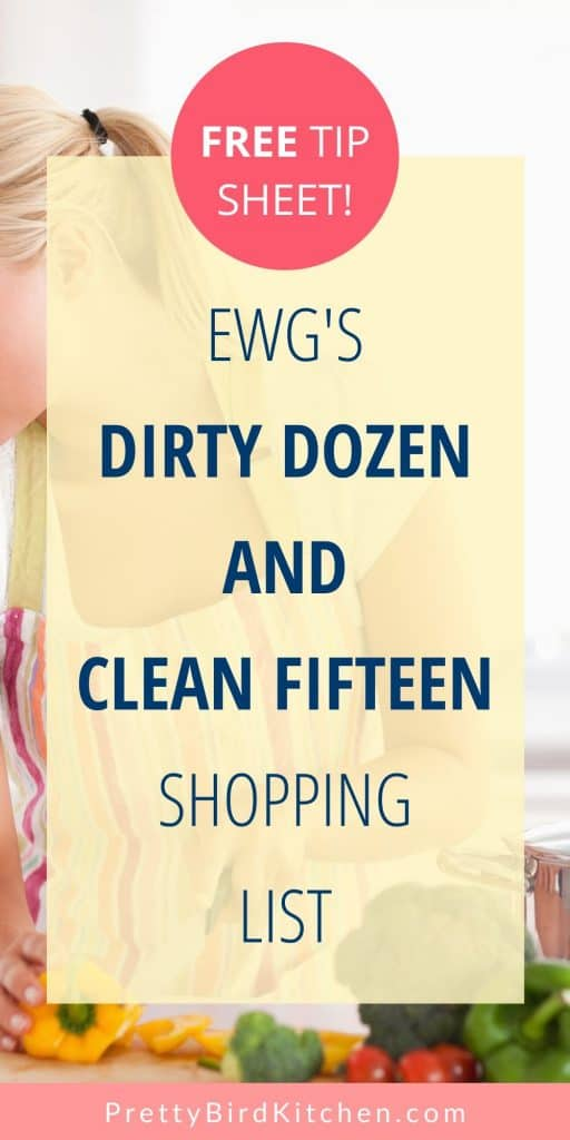 Free Dirty Dozen and Clean Fifteen printable shopping list