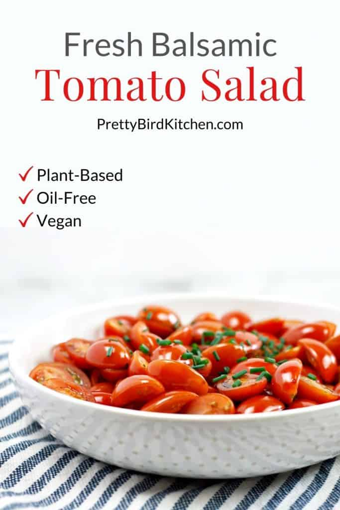 Fresh balsamic tomato salad