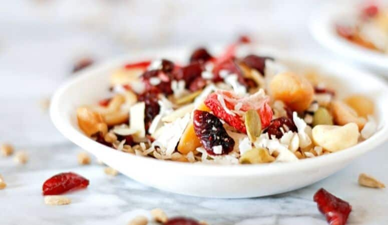 Fruit and Nut Trail Mix (Plant-Based + Vegan Recipe)