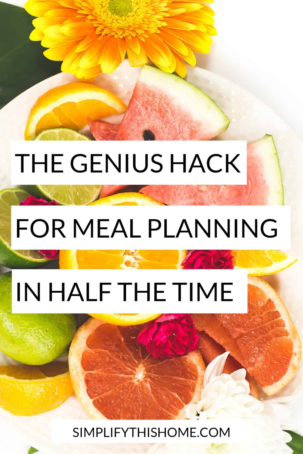 Hack for meal planning in half the time