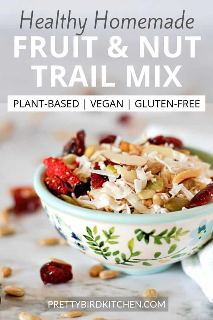 Healthy homemade fruit and nut trail mix