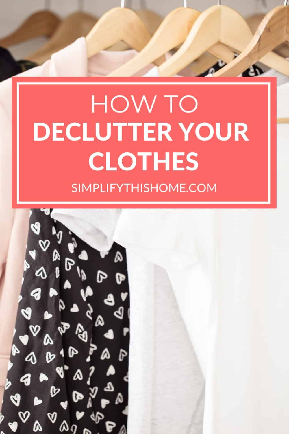 Decluttering clothes doesn't have to be overwhelming. These tips will help you declutter your clothes like a pro without feeling overwhelmed or getting burned out! | decluttering tips