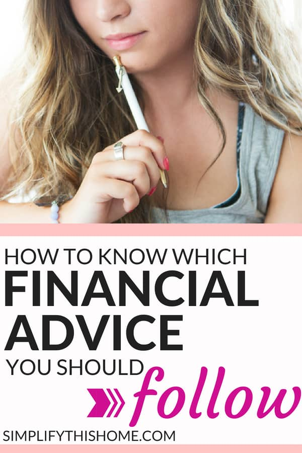 The best way to know which financial advice to follow! | personal finance tips | personal finance lessons