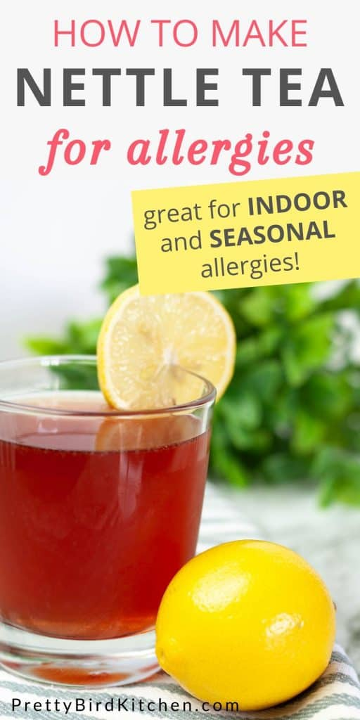 How to make nettle tea for allergies - seasonal and indoor allergy relief