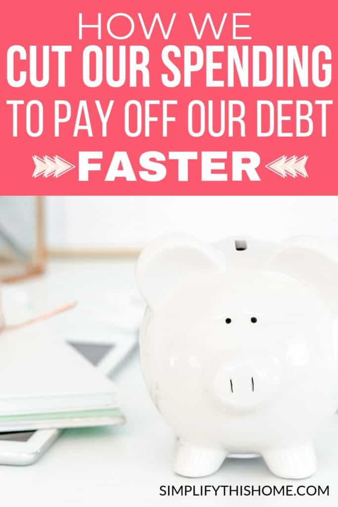 How we cut our spending to maximize our student loan payments and pay off our debt faster! | money saving tips | how to save money #savemoney #moneysavingtips