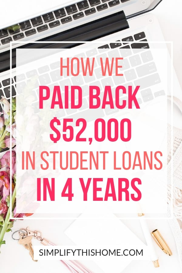 How we paid back $52,000 in student loans in four years on one income! | student loan debt | how to pay off debt quickly
