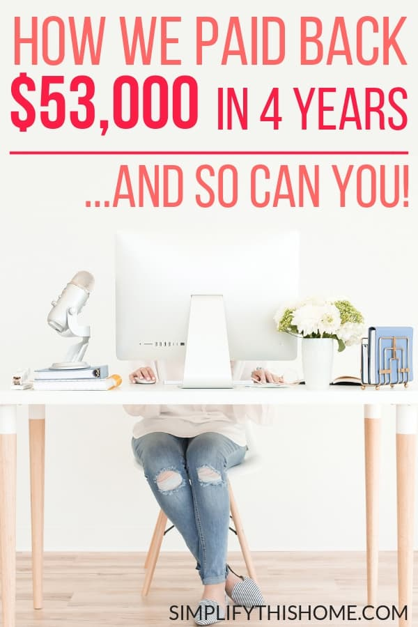 How we paid back $53,000 in student loan debt in 4 years on one income. If we can do it, then so can you!   student loans   how to pay off debt quickly