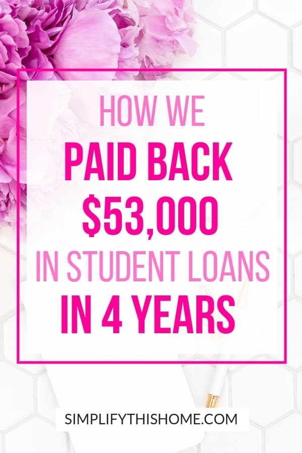 How we paid back $53,000 in student loans in 4 years on one income!   student loan debt   how to pay off debt quickly