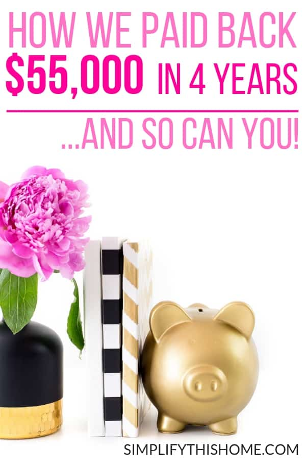How we paid back $55,000 in student loan debt in four years on one income. If we can do it, then so can you! | student loans | how to pay off debt quickly