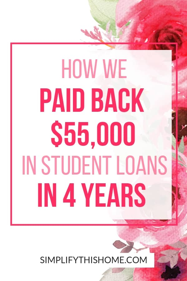 How we paid back $55,000 in student loans in four years on one income! | student loan debt | how to pay off debt quickly