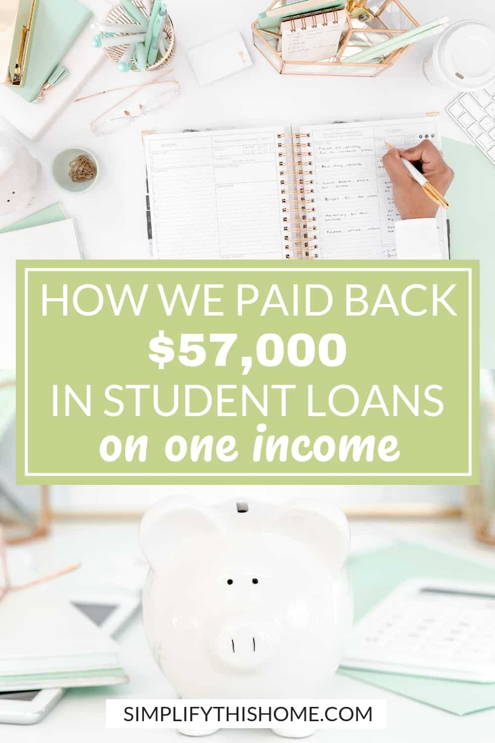 How we paid back $57,000 in student loans on one income in just four years! | student loan debt | debt payoff