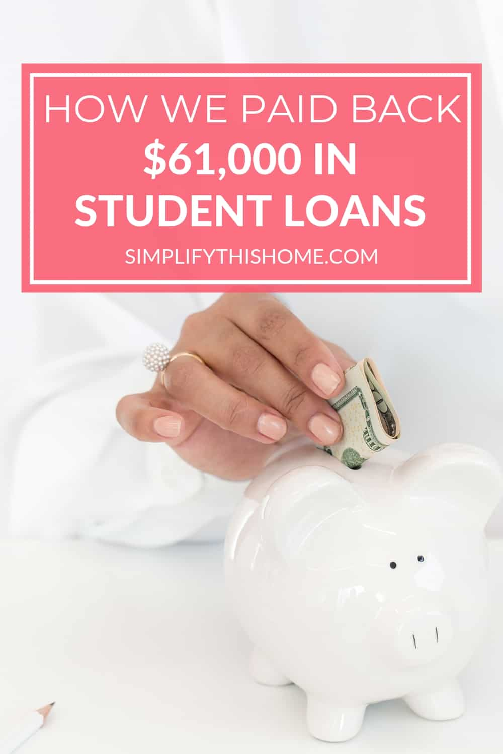 Here's how we paid back $61,000 in student loan debt on one income in just a little over four years! | student loans | paying off debt
