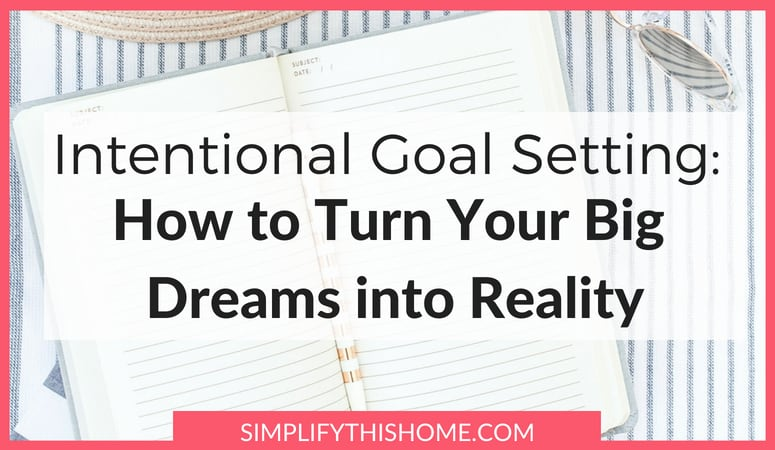 Intentional Goal Setting: How to Turn Your Big Dreams into Reality