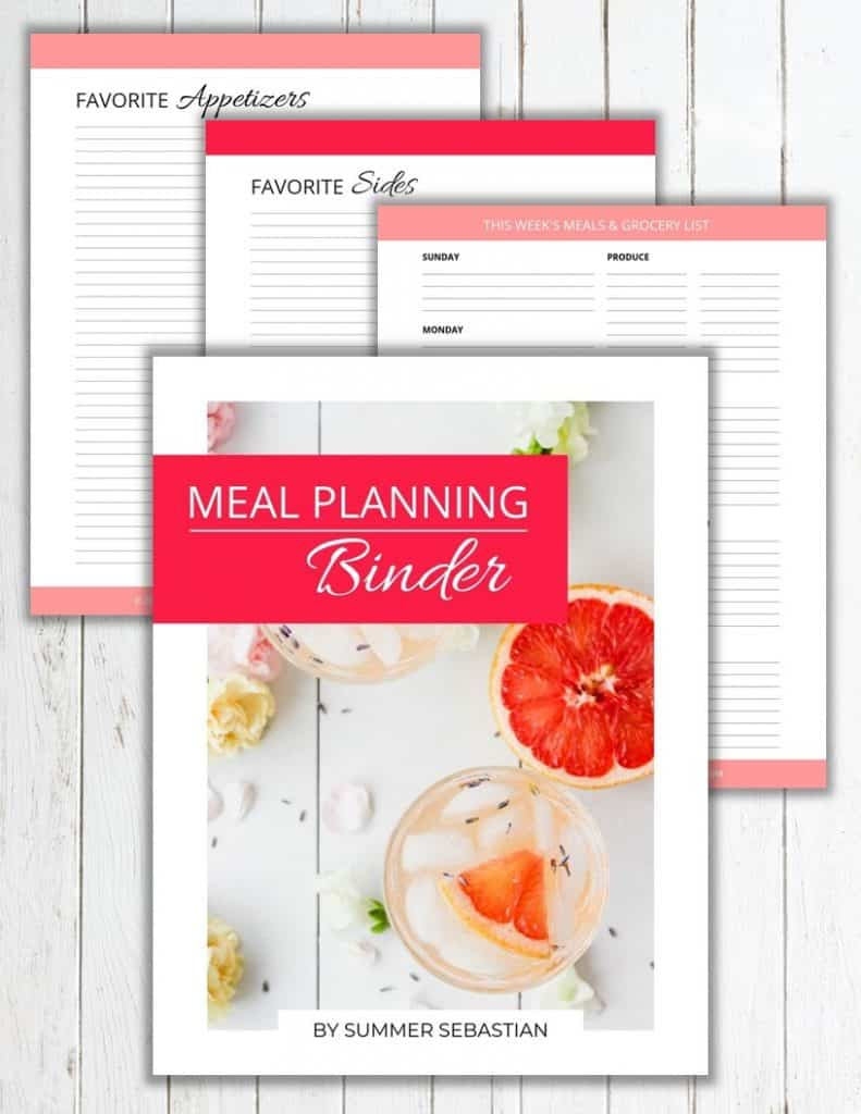 Meal Planning Binder Sneak Peek