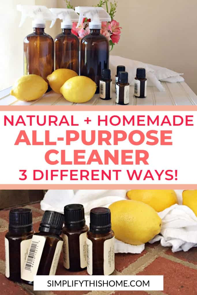 Natural homemade all-purpose cleaner recipes