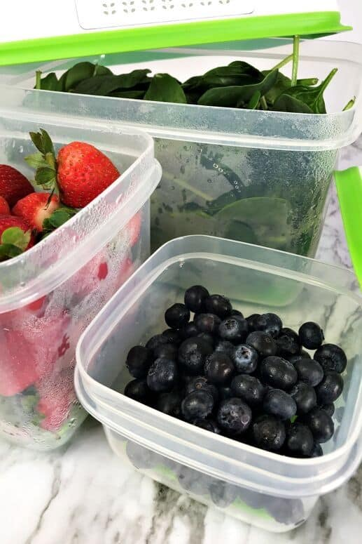 Produce in Rubbermaid FreshWorks containers