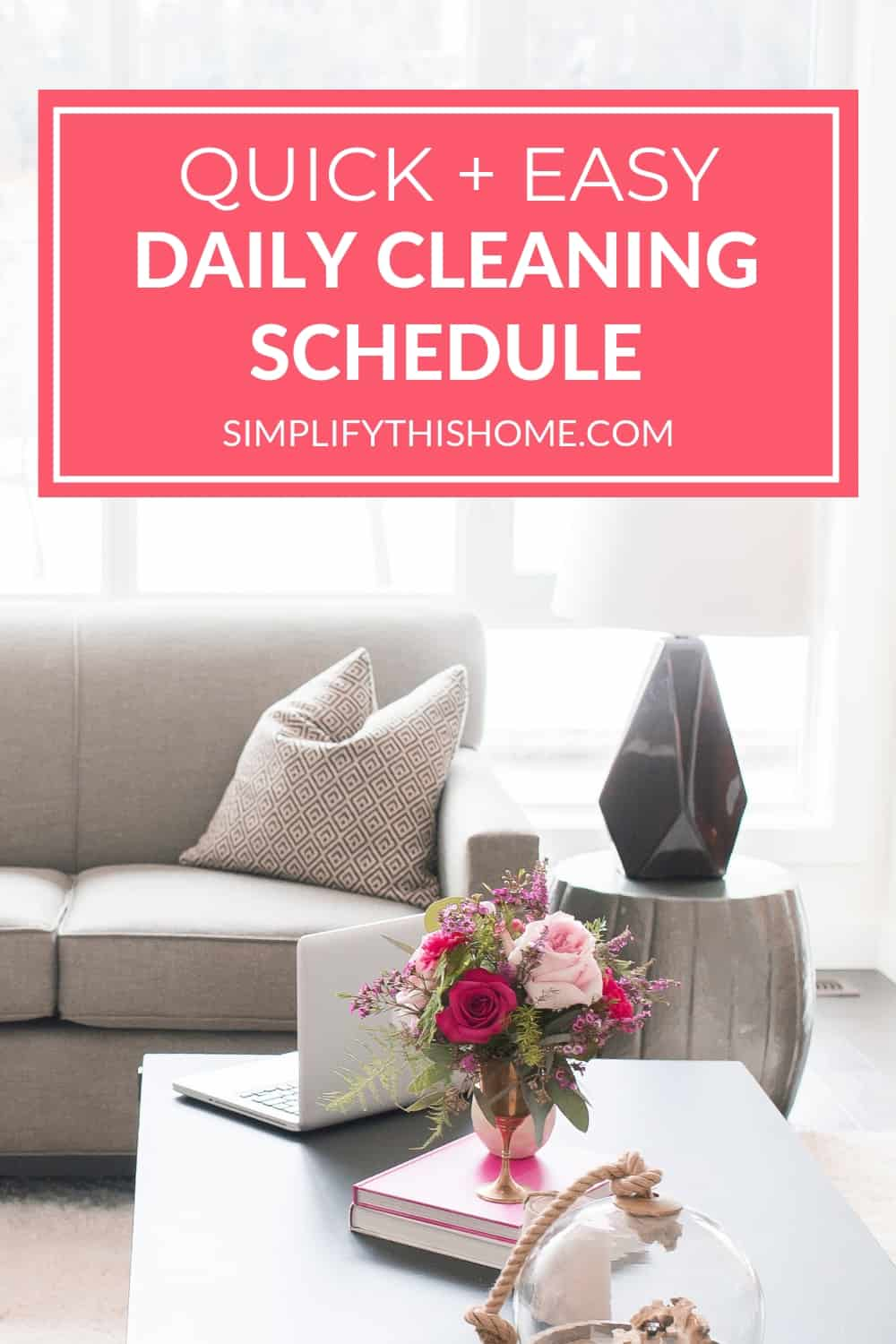 Use this quick and easy daily cleaning schedule to keep your home tidy! | free printable daily cleaning checklist