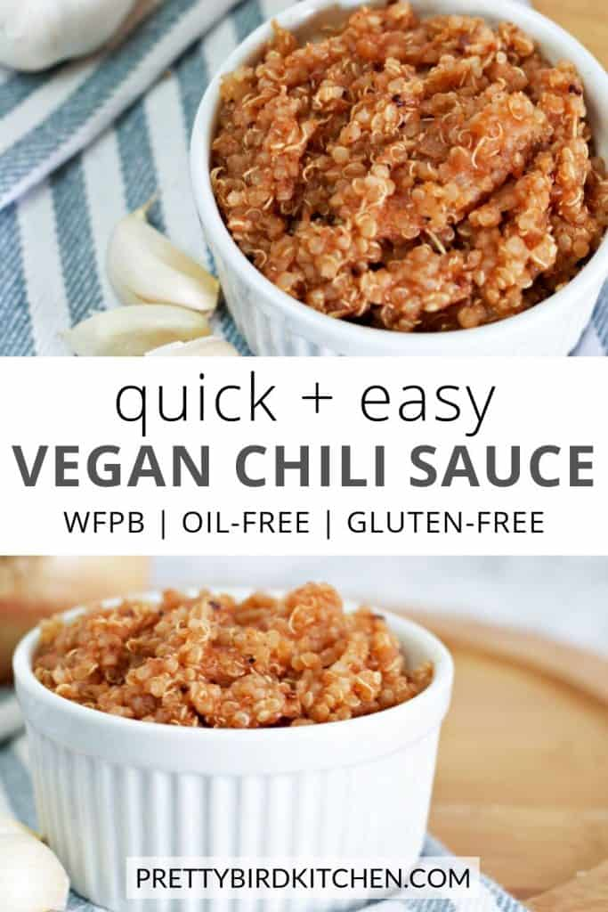 Quick and easy vegan chili sauce