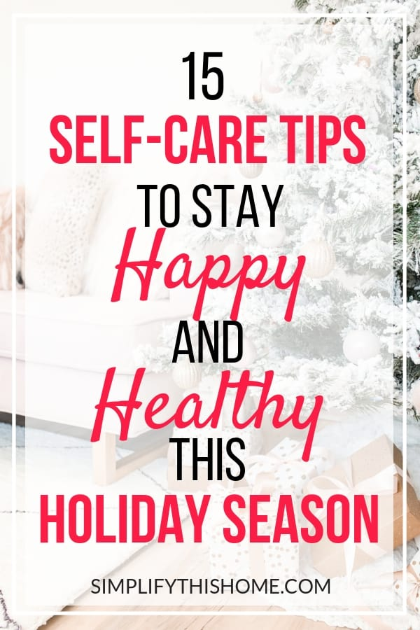 Don't miss these healthy holiday tips so you can stay happy and healthy all season long! | holiday self care | healthy holiday season | holiday weight gain | free holiday planner